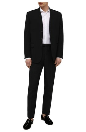 Мужские текстильные лоферы g-lewis GIUSEPPE ZANOTTI DESIGN черного цвета, арт. EU10004/001 | Фото 2 (Мужское Кросс-КТ: Вечерняя обувь; Материал внешний: Текстиль; Стили: Классический; Материал внутренний: Натуральная кожа)