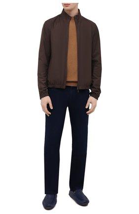 Мужские кожаные мокасины ZILLI синего цвета, арт. MDV-M053/003 | Фото 2