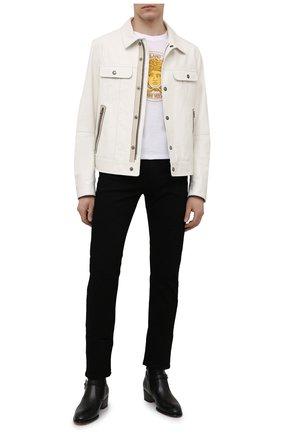 Мужские кожаные сапоги sheldon star GIUSEPPE ZANOTTI DESIGN черного цвета, арт. EU10011/001 | Фото 2 (Мужское Кросс-КТ: Сапоги-обувь, Казаки-обувь; Каблук высота: Высокий; Материал внутренний: Натуральная кожа; Подошва: Плоская)