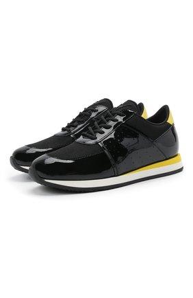 Мужские комбинированные кроссовки new jimi running GIUSEPPE ZANOTTI DESIGN черного цвета, арт. IU00032/009 | Фото 1