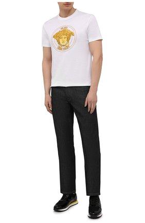 Мужские комбинированные кроссовки new jimi running GIUSEPPE ZANOTTI DESIGN черного цвета, арт. IU00032/009 | Фото 2