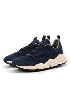 Мужские комбинированные кроссовки FLOWER MOUNTAIN темно-синего цвета, арт. 0012015731.01   Фото 1