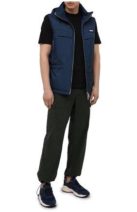 Мужские комбинированные кроссовки FLOWER MOUNTAIN темно-синего цвета, арт. 0012015731.01   Фото 2