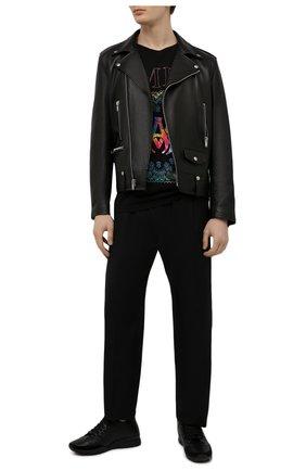 Мужские кожаные кроссовки 251 DSQUARED2 черного цвета, арт. SNM0146 01500001 | Фото 2