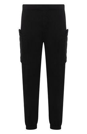 Мужские джоггеры ASPESI черного цвета, арт. S1 A CP19 G435 | Фото 1 (Длина (брюки, джинсы): Стандартные; Силуэт М (брюки): Джоггеры; Стили: Гранж; Материал внешний: Синтетический материал)