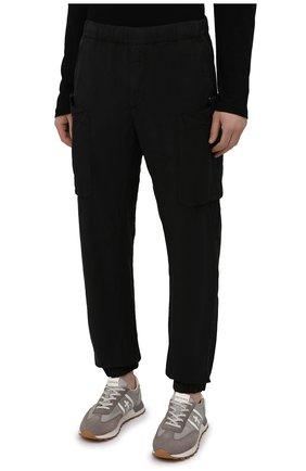 Мужские джоггеры ASPESI черного цвета, арт. S1 A CP19 G435   Фото 3 (Длина (брюки, джинсы): Стандартные; Материал внешний: Синтетический материал; Стили: Гранж; Силуэт М (брюки): Джоггеры)