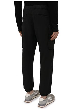 Мужские джоггеры ASPESI черного цвета, арт. S1 A CP19 G435   Фото 4 (Длина (брюки, джинсы): Стандартные; Материал внешний: Синтетический материал; Стили: Гранж; Силуэт М (брюки): Джоггеры)