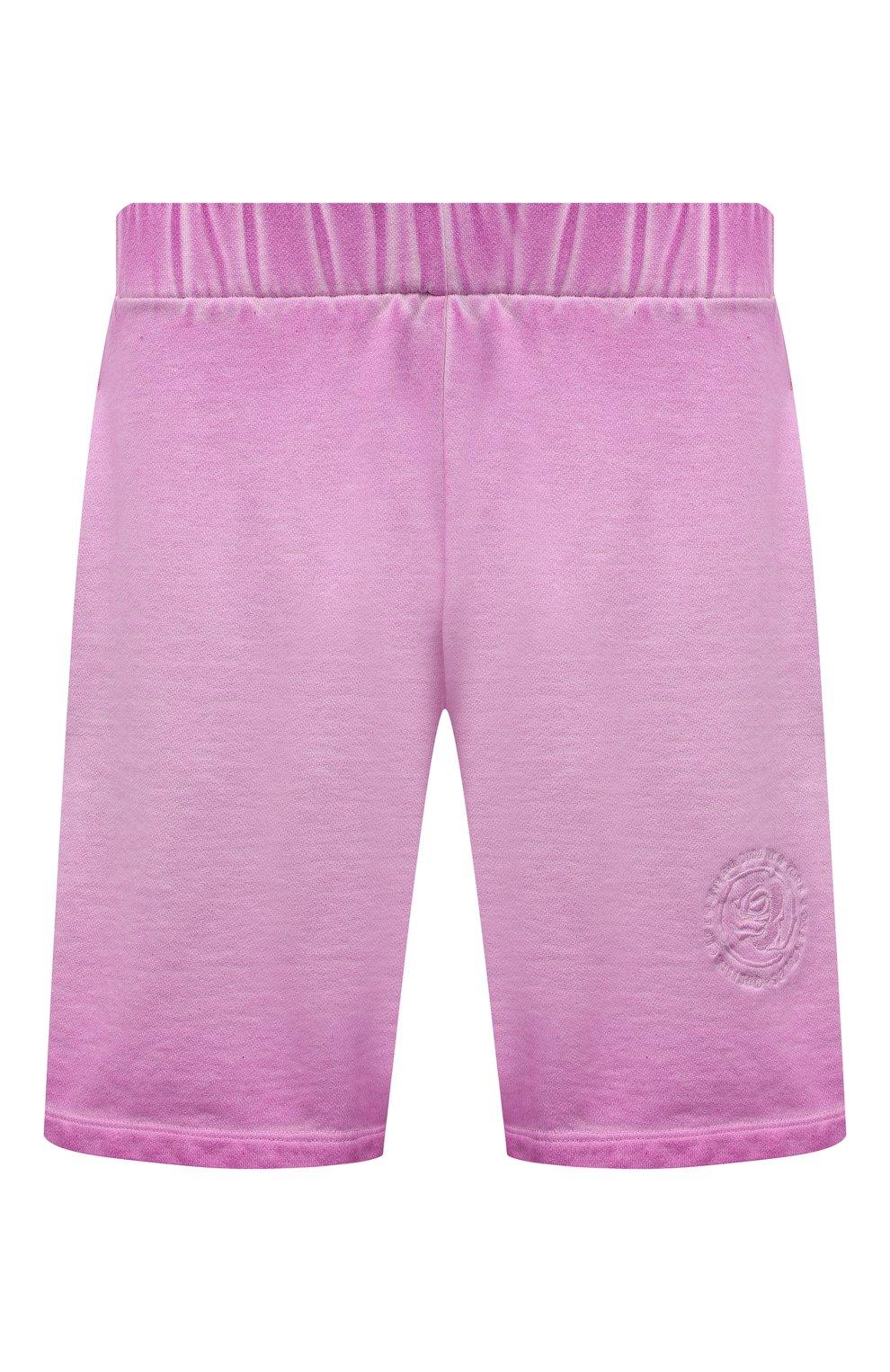 Мужские хлопковые шорты OPENING CEREMONY розового цвета, арт. YMCI001S21FLE001 | Фото 1 (Длина Шорты М: До колена; Принт: Без принта; Кросс-КТ: Трикотаж; Материал внешний: Хлопок; Стили: Спорт-шик)