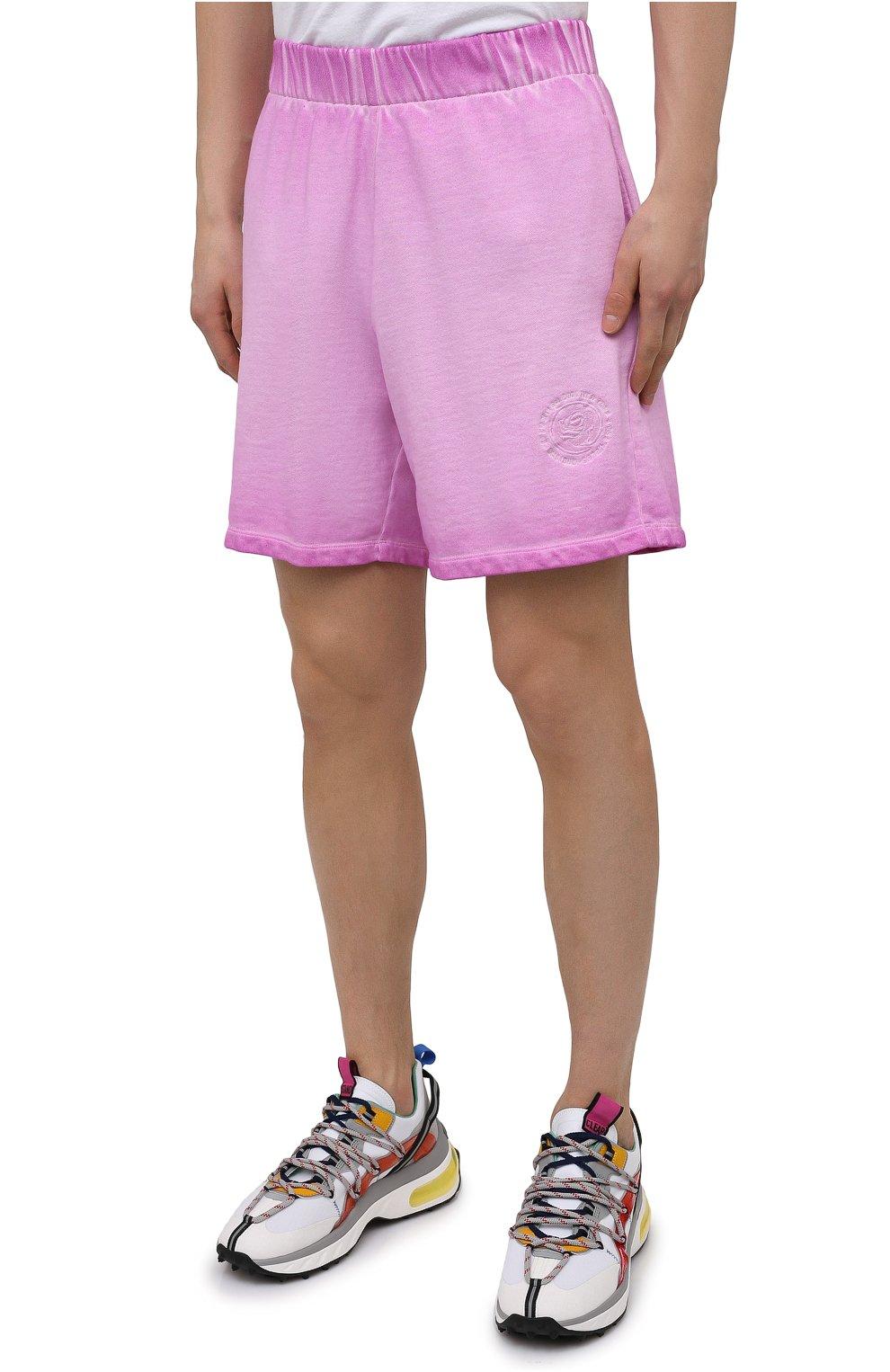 Мужские хлопковые шорты OPENING CEREMONY розового цвета, арт. YMCI001S21FLE001 | Фото 3 (Длина Шорты М: До колена; Принт: Без принта; Кросс-КТ: Трикотаж; Материал внешний: Хлопок; Стили: Спорт-шик)