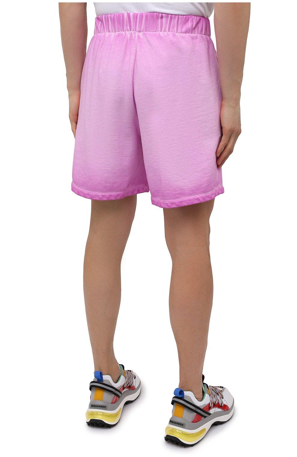 Мужские хлопковые шорты OPENING CEREMONY розового цвета, арт. YMCI001S21FLE001 | Фото 4 (Длина Шорты М: До колена; Принт: Без принта; Кросс-КТ: Трикотаж; Материал внешний: Хлопок; Стили: Спорт-шик)
