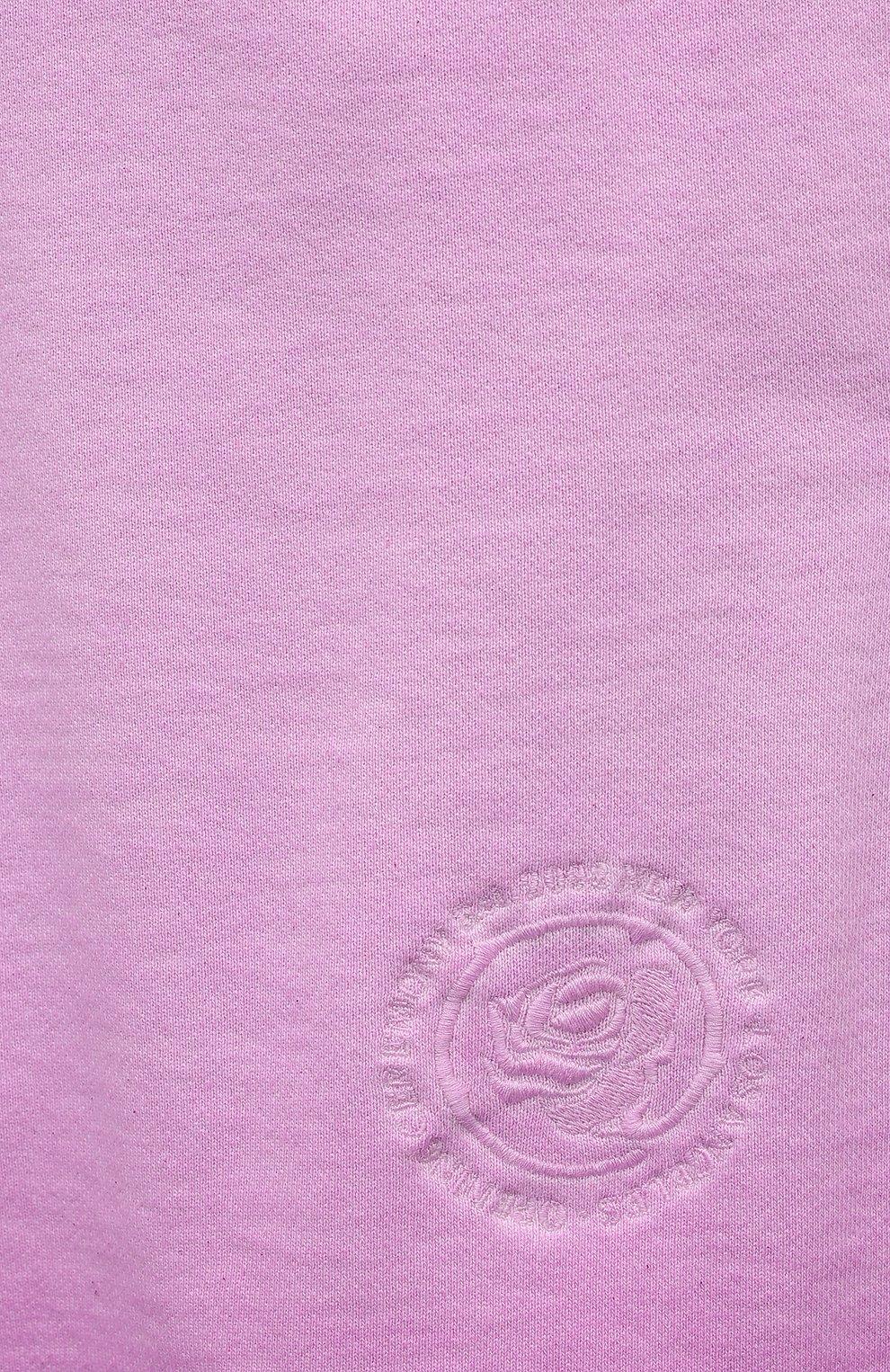 Мужские хлопковые шорты OPENING CEREMONY розового цвета, арт. YMCI001S21FLE001 | Фото 5 (Длина Шорты М: До колена; Принт: Без принта; Кросс-КТ: Трикотаж; Материал внешний: Хлопок; Стили: Спорт-шик)