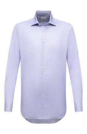 Мужская хлопковая сорочка BAGUTTA голубого цвета, арт. 380_EBLD/09871 | Фото 1