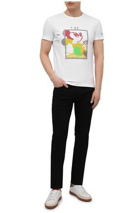 Мужская хлопковая футболка ICEBERG белого цвета, арт. 21E I1P0/F01A/6304 | Фото 2 (Длина (для топов): Стандартные; Материал внешний: Хлопок; Принт: С принтом; Рукава: Короткие; Стили: Гранж)