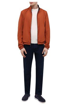 Мужские кожаные слипоны ALDO BRUE темно-синего цвета, арт. AB8014G-NS | Фото 2