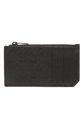 Мужской кожаный футляр для кредитных карт SAINT LAURENT черного цвета, арт. 647149/18G1Z | Фото 1