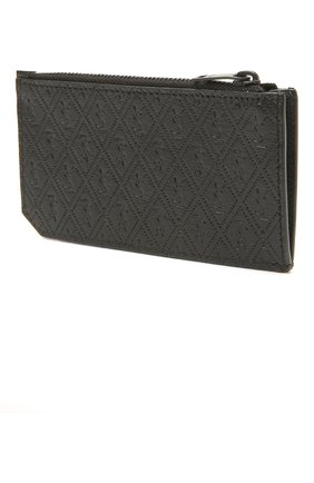 Мужской кожаный футляр для кредитных карт SAINT LAURENT черного цвета, арт. 647149/18G1Z | Фото 2