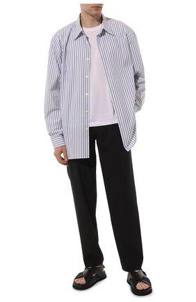 Мужские кожаные сандалии PREMIATA черного цвета, арт. 31866/LISCI0 | Фото 2 (Материал внутренний: Натуральная кожа)