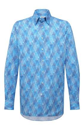 Мужская хлопковая рубашка ZILLI голубого цвета, арт. MFV-3411-2142/ZS150/45-49 | Фото 1
