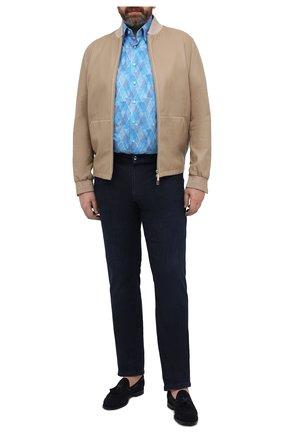 Мужская хлопковая рубашка ZILLI голубого цвета, арт. MFV-3411-2142/ZS150/45-49 | Фото 2