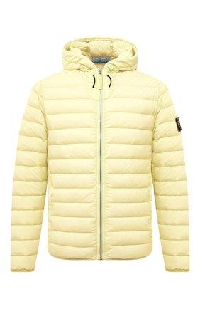 Мужская пуховая куртка STONE ISLAND желтого цвета, арт. 741544525   Фото 1