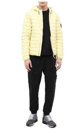 Мужская пуховая куртка STONE ISLAND желтого цвета, арт. 741544525   Фото 2