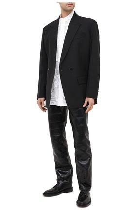 Мужская хлопковая рубашка VALENTINO белого цвета, арт. VV0ABH307EQ | Фото 2