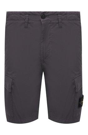 Мужские хлопковые шорты STONE ISLAND темно-серого цвета, арт. 7415L0803 | Фото 1
