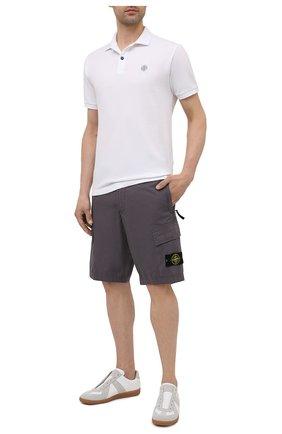 Мужские хлопковые шорты STONE ISLAND темно-серого цвета, арт. 7415L0803 | Фото 2