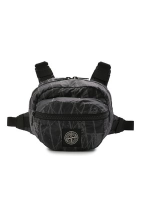 Мужская текстильная поясная сумка STONE ISLAND темно-серого цвета, арт. 741590798   Фото 1