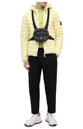 Мужская текстильная поясная сумка STONE ISLAND темно-серого цвета, арт. 741590798   Фото 2