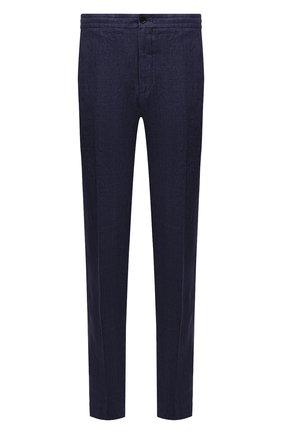 Мужские льняные брюки ERMENEGILDO ZEGNA синего цвета, арт. UUI32/TT11 | Фото 1
