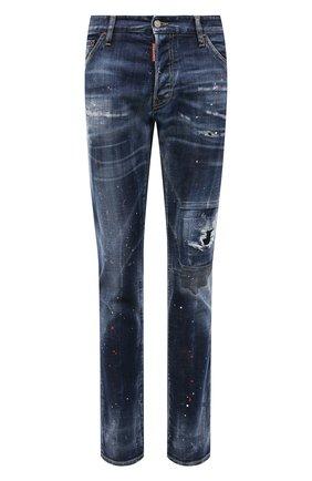 Мужские джинсы DSQUARED2 темно-синего цвета, арт. S71LB0895/S30342 | Фото 1