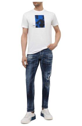 Мужские джинсы DSQUARED2 темно-синего цвета, арт. S71LB0895/S30342 | Фото 2