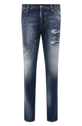Мужские джинсы DSQUARED2 темно-синего цвета, арт. S71LB0872/S30342 | Фото 1
