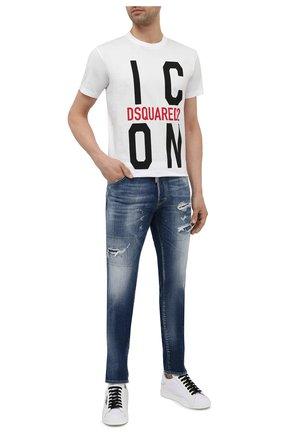 Мужские джинсы DSQUARED2 темно-синего цвета, арт. S71LB0872/S30342 | Фото 2