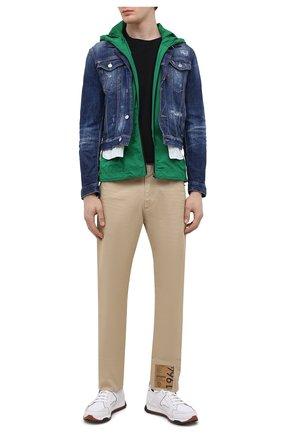 Мужские хлопковые брюки DSQUARED2 бежевого цвета, арт. S71KB0360/S39021 | Фото 2 (Материал внешний: Хлопок; Стили: Кэжуэл; Силуэт М (брюки): Чиносы; Случай: Повседневный; Длина (брюки, джинсы): Стандартные)