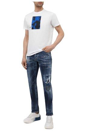 Мужская хлопковая футболка DSQUARED2 белого цвета, арт. S71GD1041/S23009   Фото 2