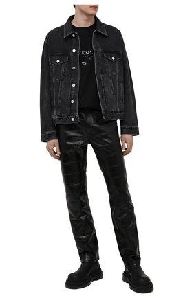 Мужская хлопковая футболка GIVENCHY черного цвета, арт. BM71333Y6B | Фото 2