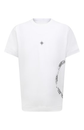 Мужская хлопковая футболка GIVENCHY белого цвета, арт. BM712S3Y6B | Фото 1