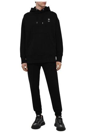 Мужские хлопковые джоггеры GIVENCHY черного цвета, арт. BM50U53Y69 | Фото 2