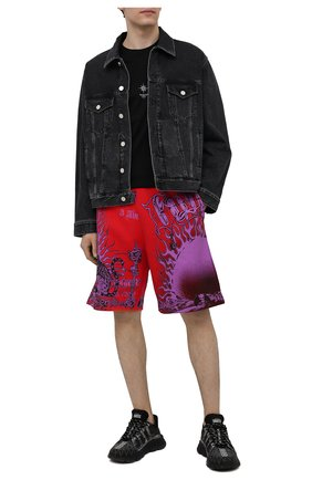 Мужские хлопковые шорты GIVENCHY красного цвета, арт. BM50TZ3Y6A | Фото 2