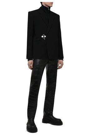 Мужской шерстяной пиджак GIVENCHY черного цвета, арт. BM30AR11PP | Фото 2
