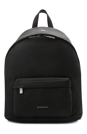 Мужской кожаный рюкзак double u GIVENCHY черного цвета, арт. BK508AK154 | Фото 1