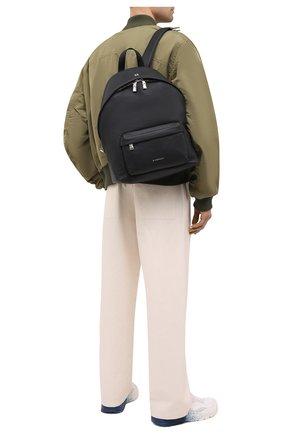 Мужской кожаный рюкзак double u GIVENCHY черного цвета, арт. BK508AK154 | Фото 2