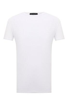 Мужская льняная футболка DANIELE FIESOLI белого цвета, арт. DF 7110   Фото 1