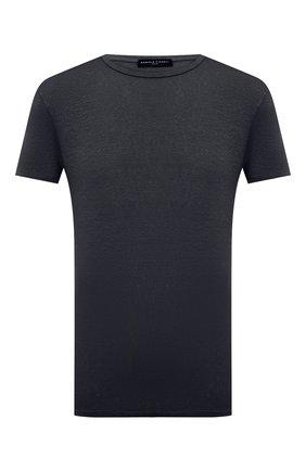 Мужская льняная футболка DANIELE FIESOLI темно-серого цвета, арт. DF 7110 | Фото 1
