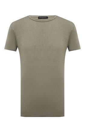 Мужская льняная футболка DANIELE FIESOLI хаки цвета, арт. DF 7110   Фото 1