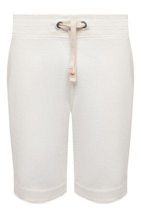 Мужские хлопковые шорты PARAJUMPERS белого цвета, арт. CF06/C0LT0N | Фото 1 (Принт: Без принта; Кросс-КТ: Трикотаж; Материал внешний: Хлопок; Стили: Спорт-шик; Длина Шорты М: Ниже колена)