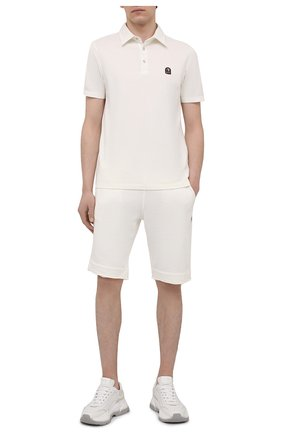 Мужские хлопковые шорты PARAJUMPERS белого цвета, арт. CF06/C0LT0N   Фото 2