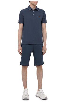 Мужские хлопковые шорты PARAJUMPERS синего цвета, арт. CF06/C0LT0N   Фото 2 (Стили: Спорт-шик; Кросс-КТ: Трикотаж; Принт: Без принта; Материал внешний: Хлопок; Длина Шорты М: Ниже колена)